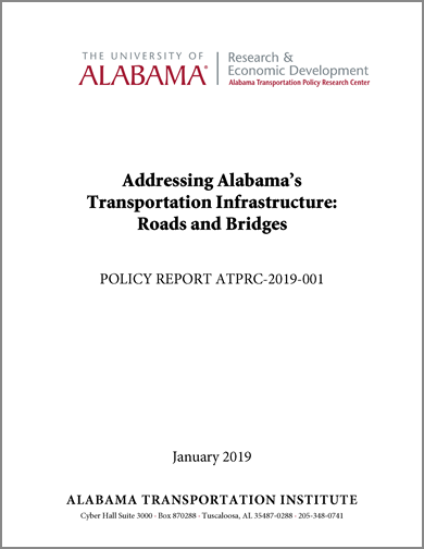 Image of Report Cover: Addressing Alabama's Transportation Infrastructure: Roads and Bridges